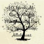 10 Surah Al-Qur'an Dapat Menghalangi Dari 10 Ujian Besar Allah s.w.t